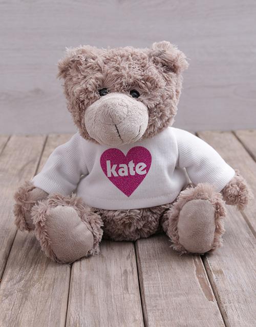 teddy-bears: Personalised Heart Jersey Teddy!