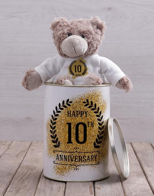 personalised: Personalised Anniversary Teddy Tin!