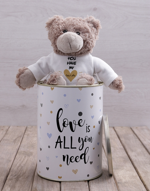 teddy-bears: Personalised Love and Romance  Teddy Tin!