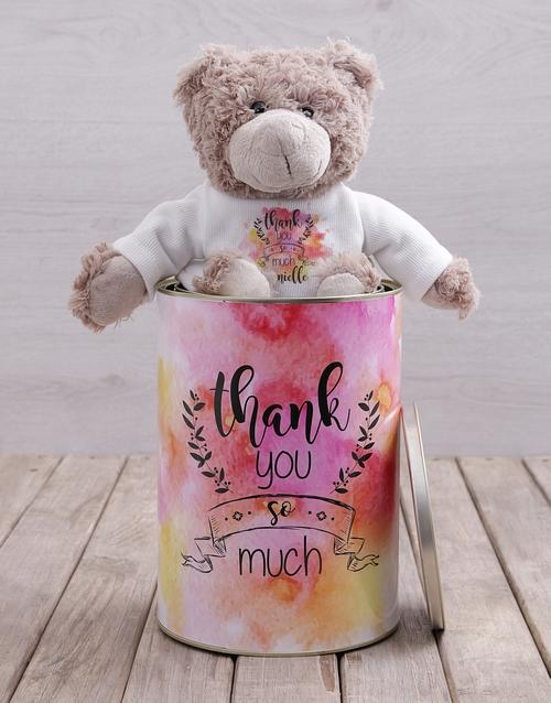 teddy-bears: Personalised Thank You Teddy Tin!