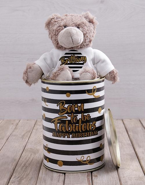 teddy-bears: Personalised Born Fabulous Teddy Tin!