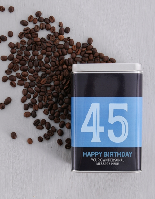 personalised: Personalised Birthday Number Coffee Tin!