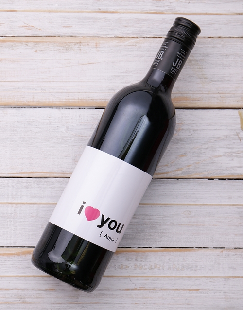 valentines-day: I Heart you Personalised Wine!