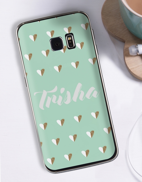 personalised: Personalised Hearts Samsung Cover!