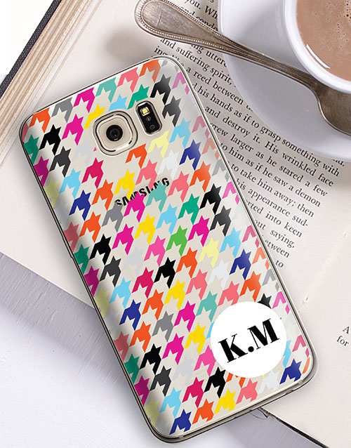 personalised: Personalised Houndstooth Samsung Cover!