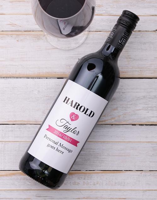 personalised: Vintage Love Personalised Wine!
