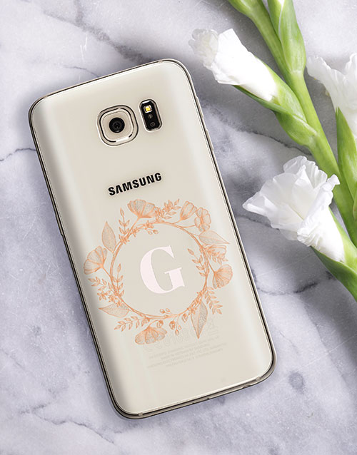 personalised: Personalised Flower Crown Samsung Cover!
