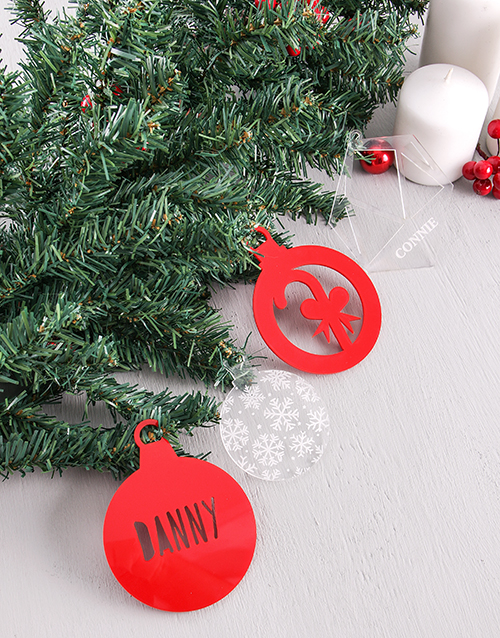 christmas: Personalised Red Christmas Decor!