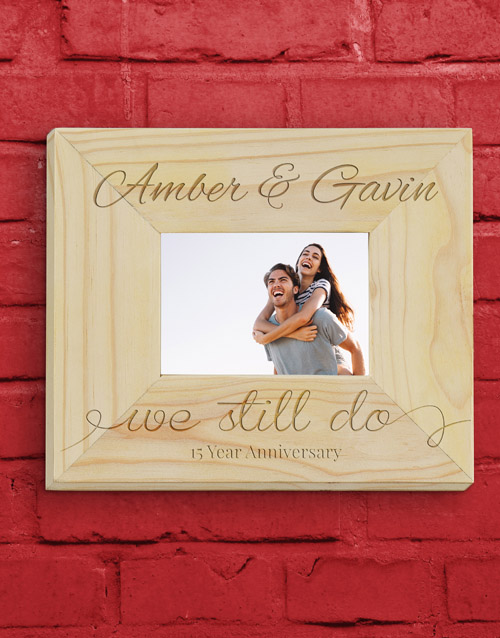 home-decor: Personalised We Still Do Frame!
