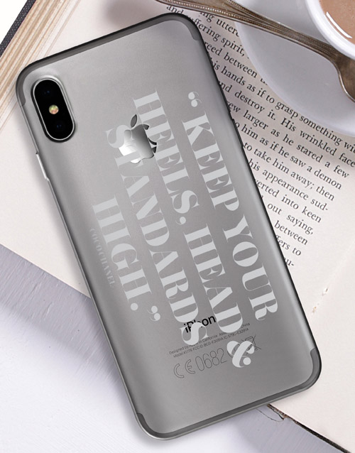 personalised: Personalised High Standards iPhone Cover!