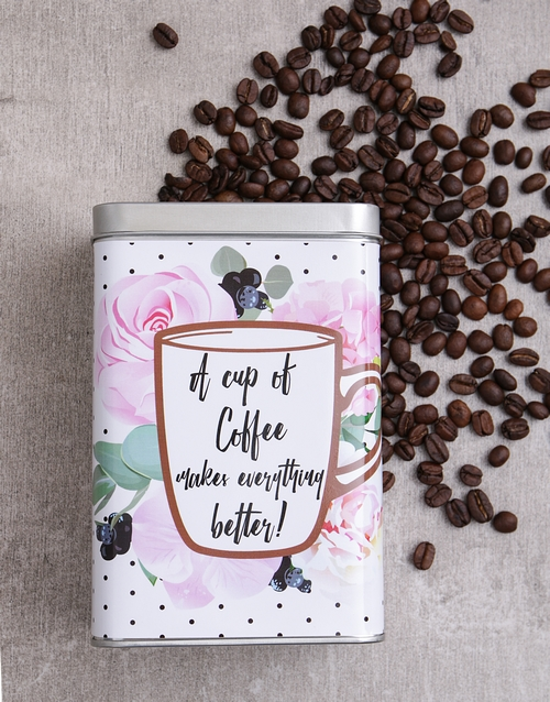 get-well: Personalised Everything Better Coffee Tin!