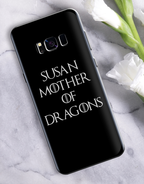 personalised: Personalised Mother of Dragons Samsung Cover!