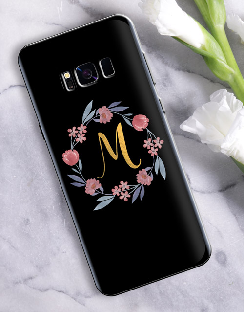 mothers-day: Personalised Flower Wreath Samsung Cover!