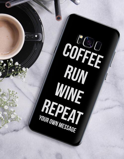 personalised: Personalised Run Repeat Samsung Cover!