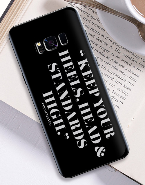 personalised: Personalised High Standards Samsung Cover!