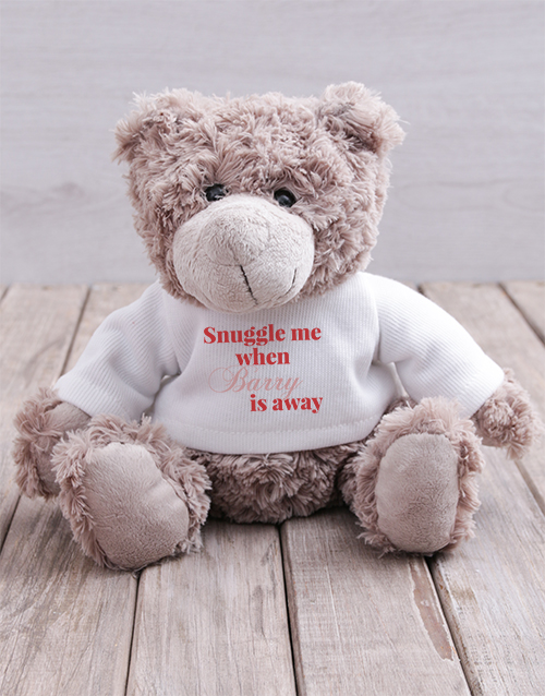 teddy-bears: Personalised Snuggle Me Teddy!