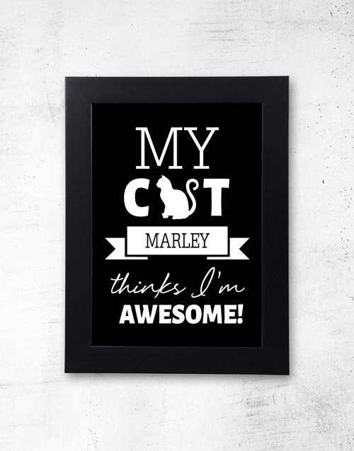 home-decor: Personalised Pet Awesome Black Frame!
