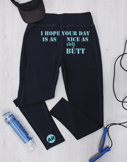 personalised: Personalised Nice As My Butt Gym Leggings!