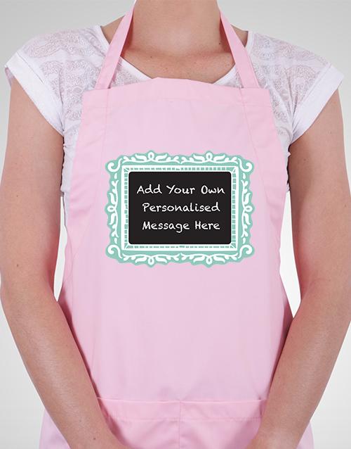 personalised: Personalised Chalkboard Apron!