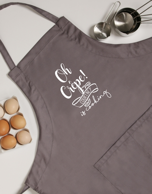 house-warming: Personalised Oh Crepe Apron!
