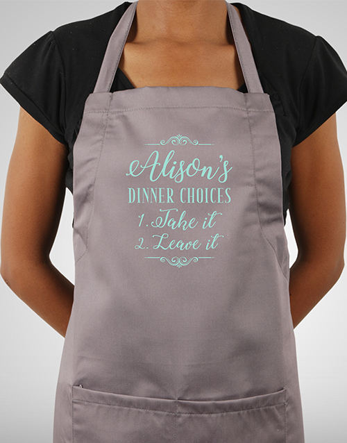 mothers-day: Personalised Dinner Choices Apron!