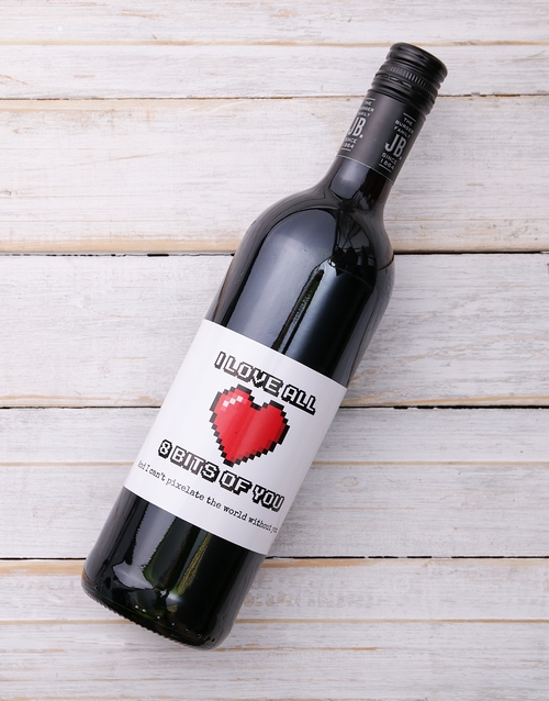 love-and-romance: 8 Bits of You Personalised Wine!