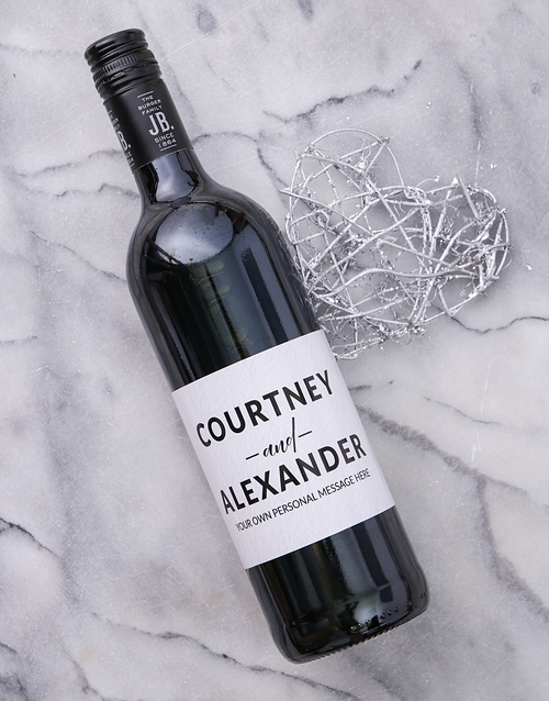 personalised: Personalised Couples Card Wine!