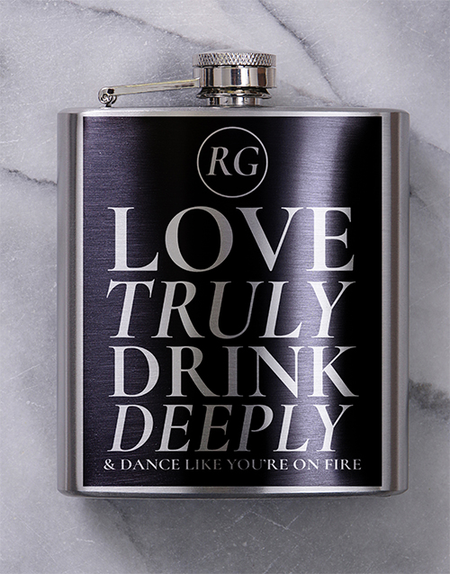 fine-alcohol: Personalised Truly Deeply Hip Flask!