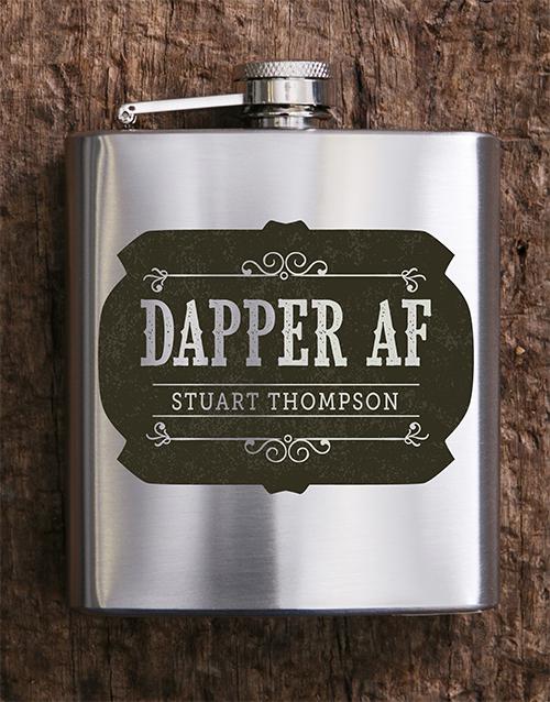 flasks: Personalised Dapper AF Hip Flask!