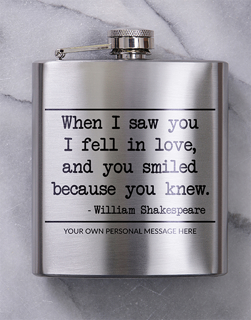 fine-alcohol: Personalised You Knew Hip Flask!