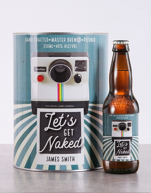 fine-alcohol: Personalised Lets Get Naked Craft Beer!