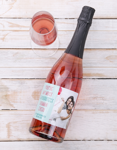personalised: Personalised Favouritest Photo Wine!