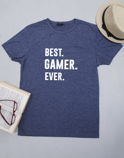 clothing: Personalised Best Gamer T Shirt!