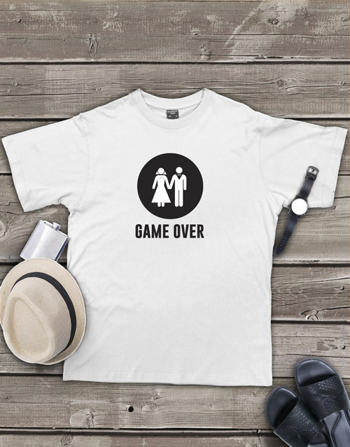 clothing: Personalised Game Over T Shirt!