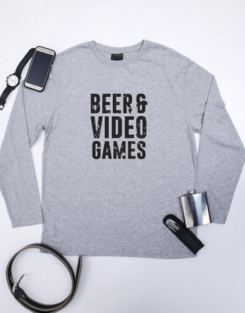 clothing: Beer and Video Games T Shirt!