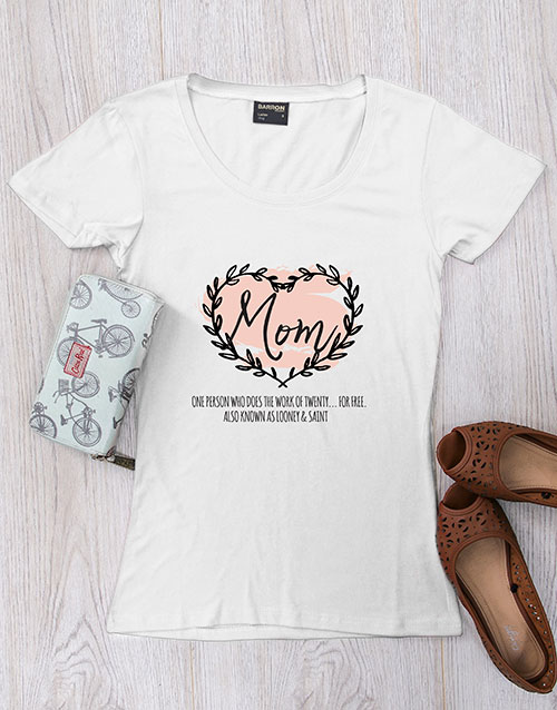 mothers-day: Personalised Mom Heart T Shirt!