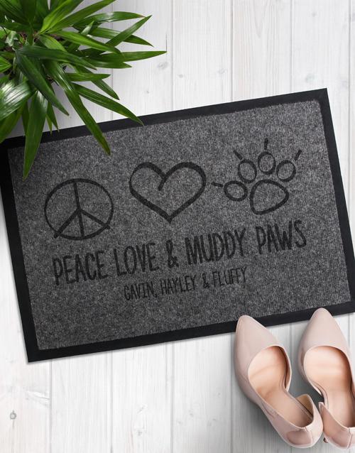 personalised: Personalised Muddy Paws Doormat!