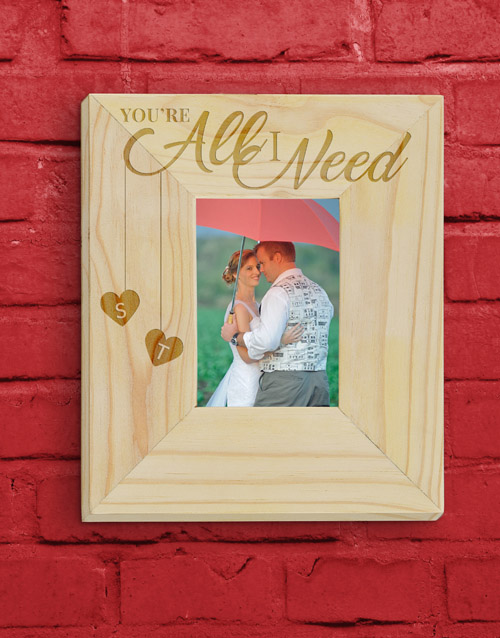 personalised: Personalised All  I Need Photo Frame!