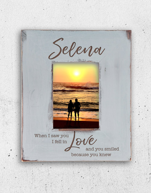 personalised: Personalised I Fell In Love Photo Frame!