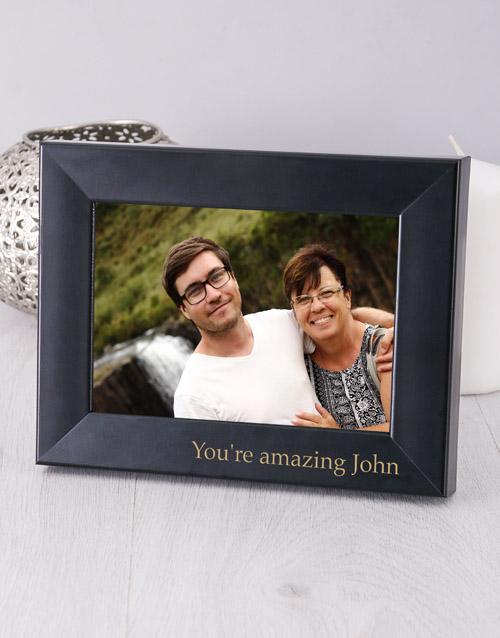 home-decor: Personalised Black Photo Frame!
