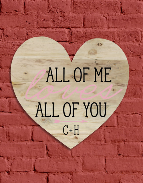 personalised: Personalised All Of Me Wall Art!