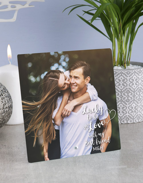 valentines-day: Personalised In Love Best Friend Glass Tile!