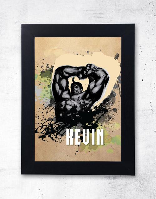personalised: Personalised Hulk Frame!
