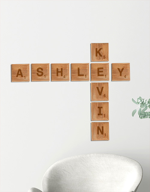 personalised: Personalised Large Scrabble Letters!