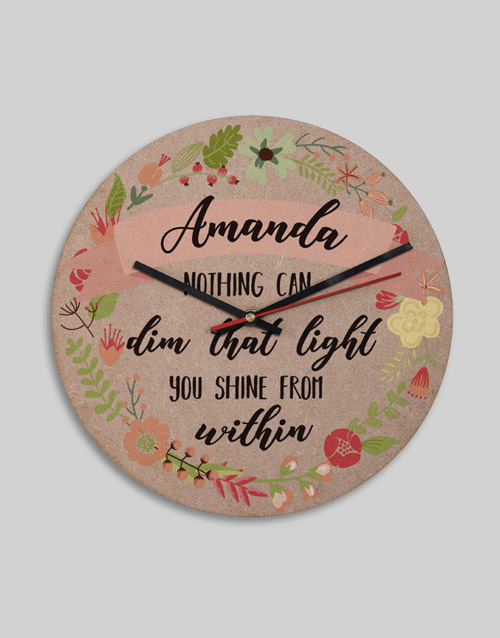 home-decor: Personalised MDF Shine From Within Clock!
