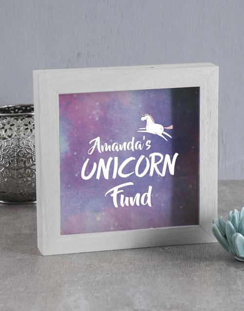 home-decor: Personalised Unicorn Fund Box!