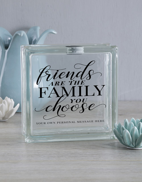 personalised: Personalised Family You Choose Glass Brick!