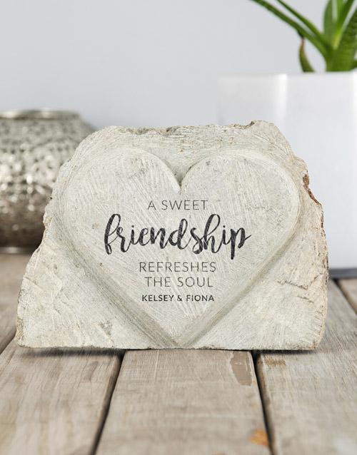 personalised: Personalised Sweet Friendship Stone Heart!