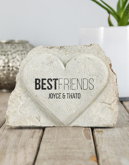 home-decor: Personalised Best Friends Stone Heart!