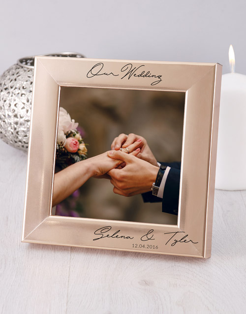 personalised: Personalised Wedding Photo Frame!